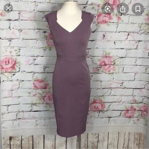 NWT Dorothy Perkins lilac pencil office dress